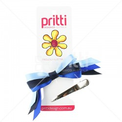 3 Colour Mini Sports Bow Clip - 10 per pack