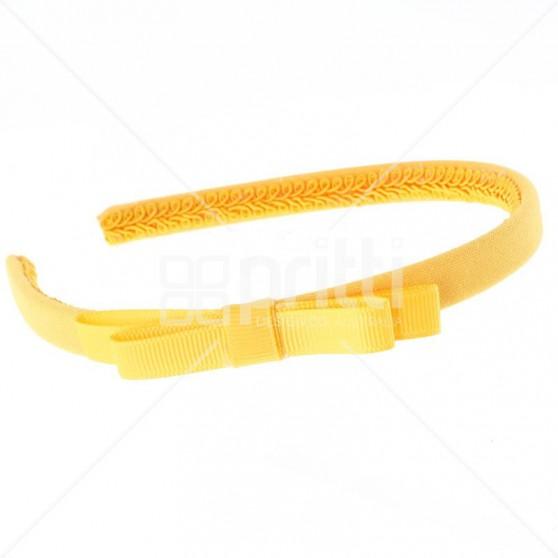 Marigold Grosgrain Bow Hairband - 10 per pack