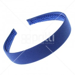 Royal Blue Alice Wide Hairband - 10 per pack
