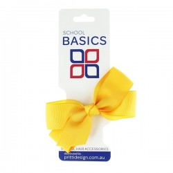 Gold Small Jani Bow on Clip - 10 per pack