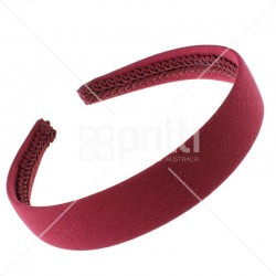 Maroon Alice Wide Hairbands - 10 per pack