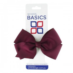 Maroon Large Jani Bow on Clip - 10 per pack