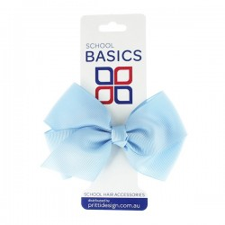 Light Blue Large Jani Bow on Clip - 10 per pack