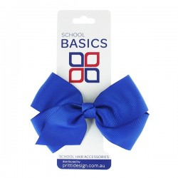 Royal Blue Large Jani Bow on Clip - 10 per pack