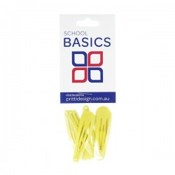 Gold Basic Snap Clips 8 piece - 10 per pack