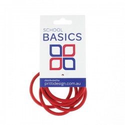 Red Snag Free Basic Elastics 8 piece - 10 per pack