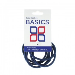 Navy Snag Free Basic Elastics 8 piece - 10 per pack