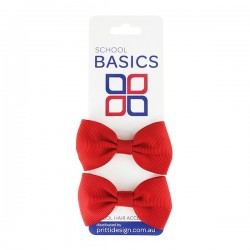 Gold Small Grosgrain Bows on Elastic, Pair - 10 per pack
