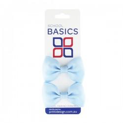 Light Blue Basic Grosgrain Bows on Elastic Pair - 10 per pack
