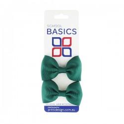 Red Basic Grosgrain Bows on Elastic, Pair - 10 per pack
