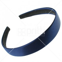 Navy Blue Satin Hairband - 10 per pack
