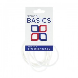 White Snag Free Basic Elastics 8 piece - 10 per pack