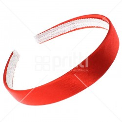 Red Satin Hairband - 10 per packq