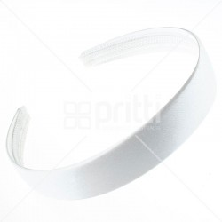 White Satin Hairband - 10 per pack