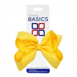 Gold Large Shilo Bow on Elastic - 10 per pack