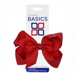 Red Large Shilo Bow on Elastic - 10 per pack