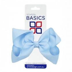 Light Blue Large Shilo Bow on Elastic - 10 per pack