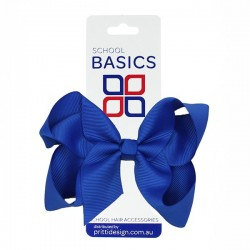 Royal Blue Large Shilo Bow on Elastic - 10 per pack