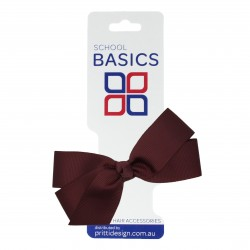 Wine Small Jani Bow on Clip - 10 per pack