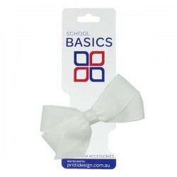 White Small Jani Bow on Clip - 10 per pack