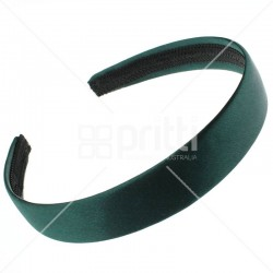 Bottle Green Satin Hairband - 10 per pack