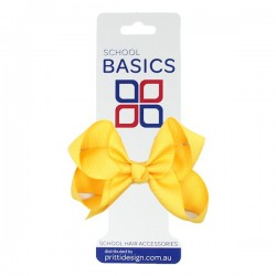 Gold Small Shilo Bow on Elastic - 10 per pack