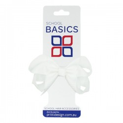 White Small Shilo Bow on Elastic - 10 per pack