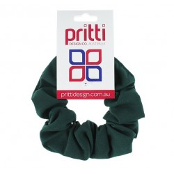 Dark Bottle Large Fabric Scrunchies - 10 per pack