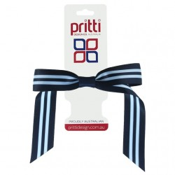 Dark Navy / Bluebird Pony-Bow® - 10 per pack