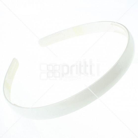 White Plastic Narrow Hairband - 10 per pack
