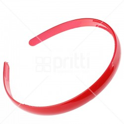 Red Plastic Narrow Hairband - 10 per pack