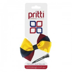 3 Colour Bow Clip - 10 per pack