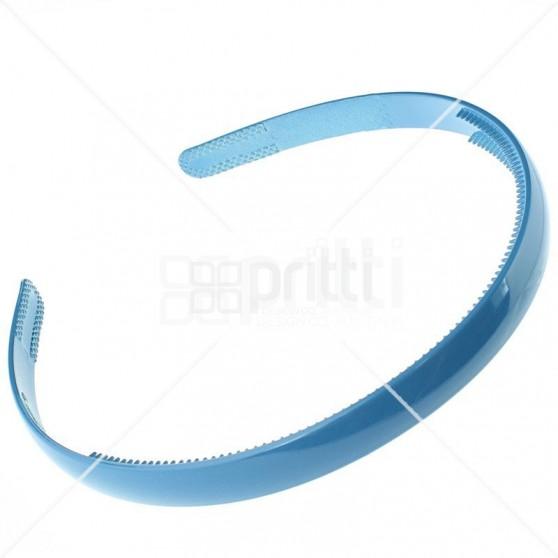 Cornflower Plastic Narrow Hairband - 10 per pack