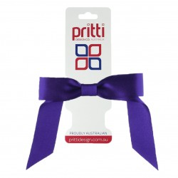 Purple Satin Pony-Bow® - 10 per pack