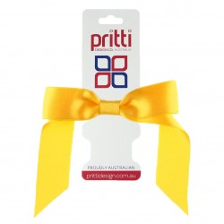 Bright Gold Satin Pony-Bow® - 10 per pack