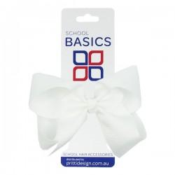 White Large Shilo Bow on Elastic - 10 per pack