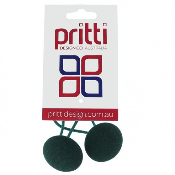 Bottle Green Button Pony-O's - 10 per pack
