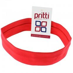 Red Medium Cotton Lycra Headband - 10 per pack