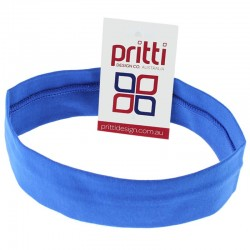 Royal Blue Medium Cotton Lycra Headband - 10 per pack