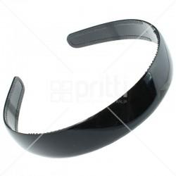 Black Plastic Wide Hairband - 10 per pack