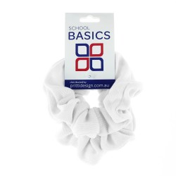 White Basic Scrunchies Large 2 Piece - 10 per pack