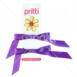 Purple Satin Pigtail Bows - 10 per pack