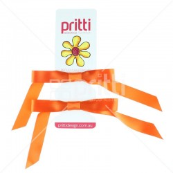Flame Satin Pigtail Bows - 10 per pack