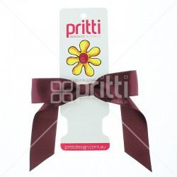 Wine Satin Pony-Bow® - 10 per pack
