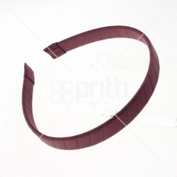 Wine Grosgrain Hairbands  - 10 per pack