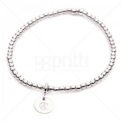 Isla - School Crested Sterling Silver Bead Bracelet