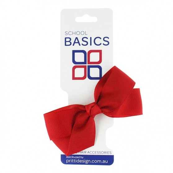 Red Small Jani Bow on Clip - 10 per pack