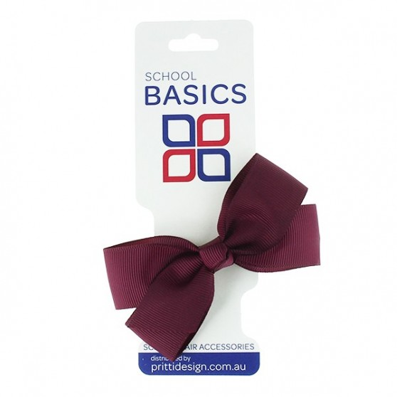 Maroon Small Jani Bow on Clip - 10 per pack