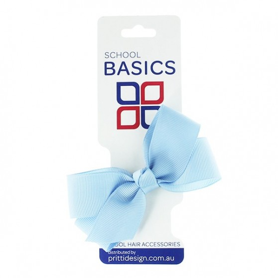 Light Blue Small Jani Bow on Clip - 10 per pack
