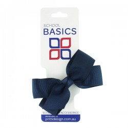 Navy Blue Small Jani Bow on Clip - 10 per pack